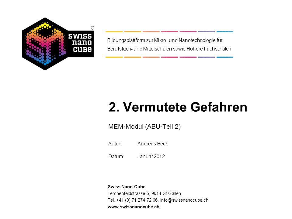 MEM-Modul (ABU-Teil 2) Autor: Andreas Beck Datum: Januar 2012