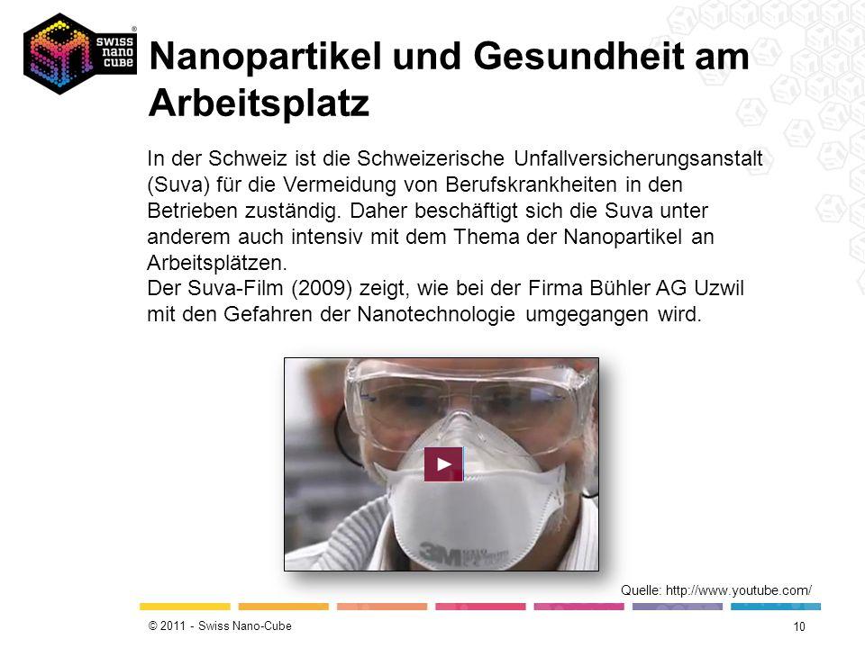 Nanopartikel und Gesundheit am Arbeitsplatz