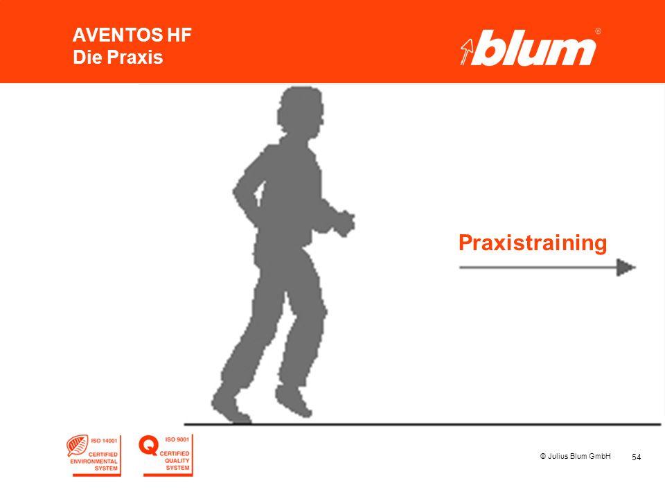 AVENTOS HF Die Praxis Praxistraining © Julius Blum GmbH