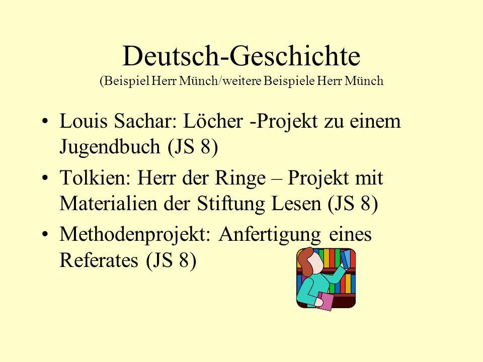Deutsch-Geschichte (Beispiel Herr Münch/weitere Beispiele Herr Münch
