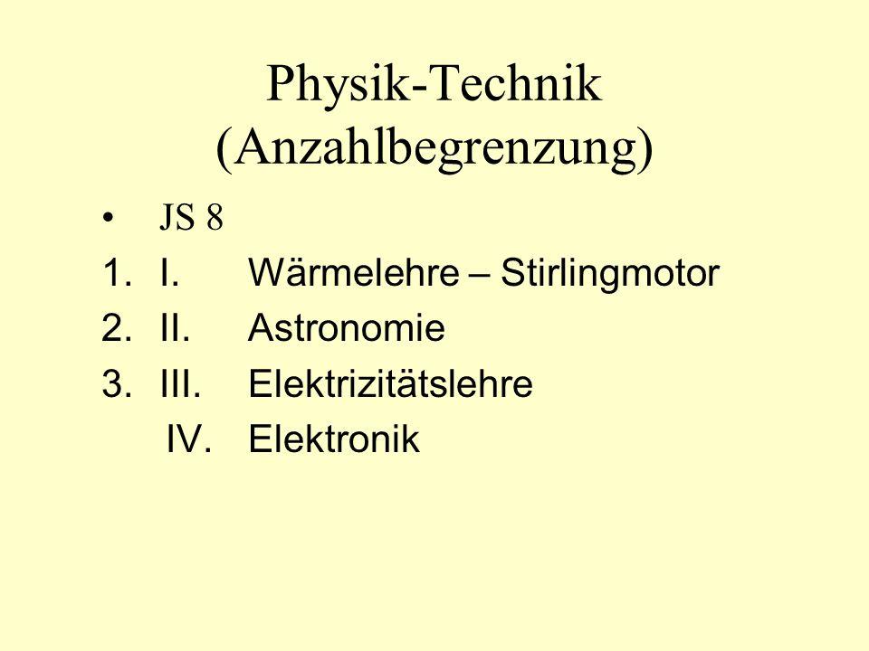 Physik-Technik (Anzahlbegrenzung)