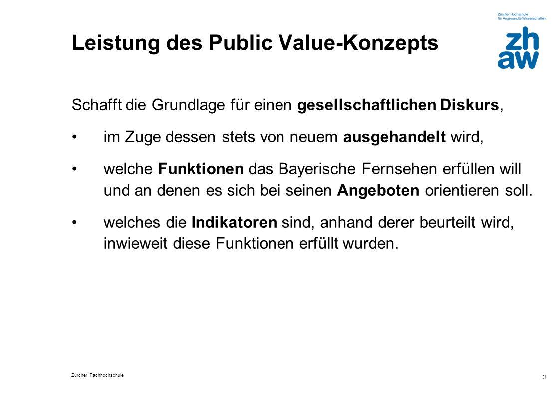 Leistung des Public Value-Konzepts