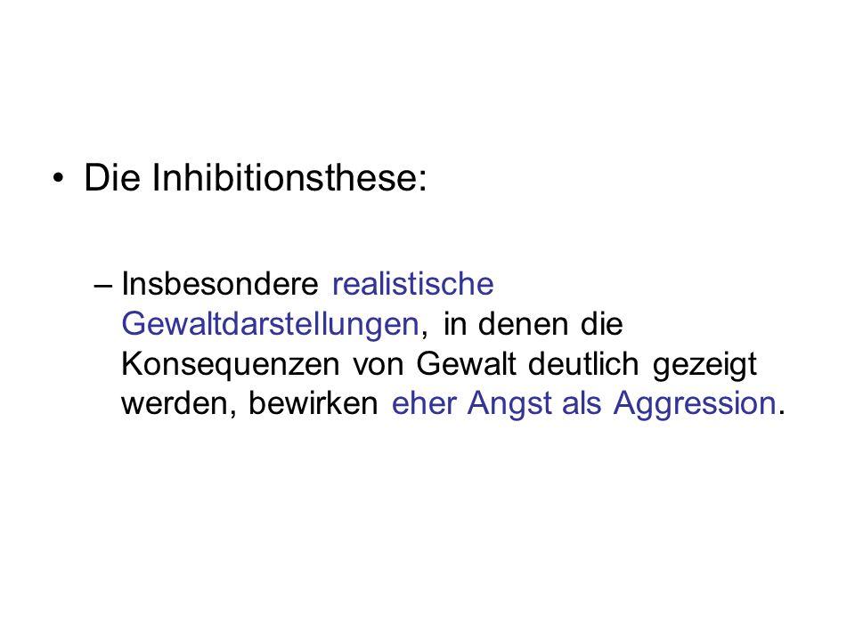 Die Inhibitionsthese: