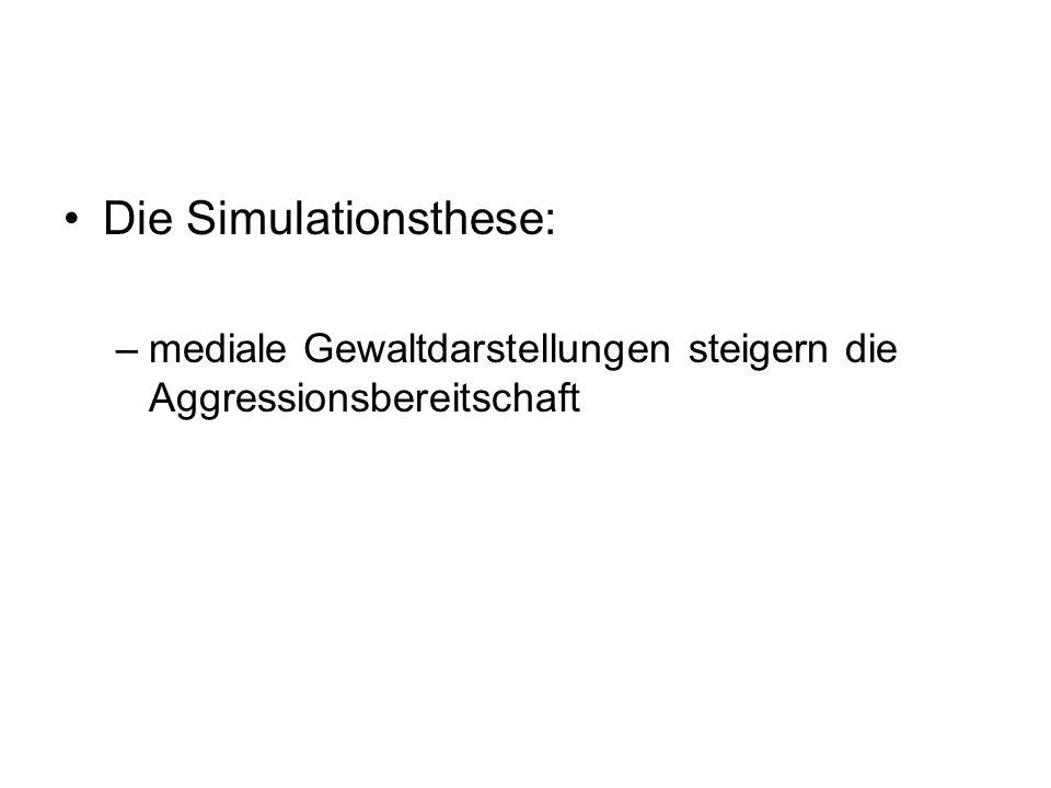 Die Simulationsthese: