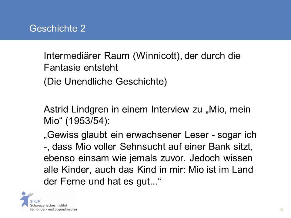 Geschichte 2 Intermediärer Raum (Winnicott), der durch die Fantasie entsteht. (Die Unendliche Geschichte)