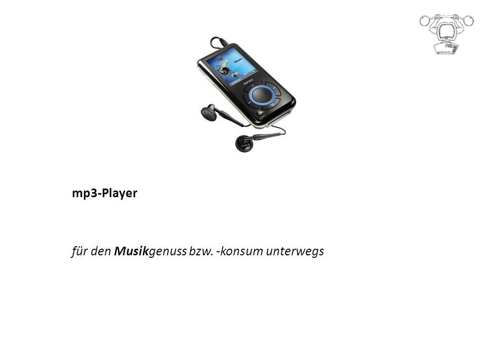 mp3-Player für den Musikgenuss bzw. -konsum unterwegs