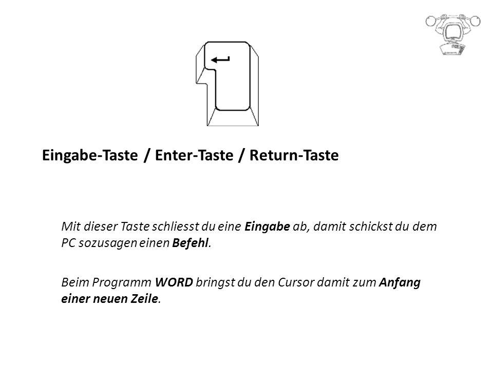 Eingabe-Taste / Enter-Taste / Return-Taste