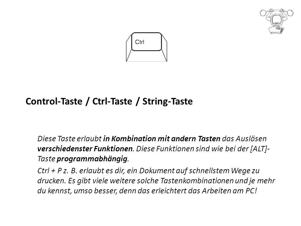 Control-Taste / Ctrl-Taste / String-Taste