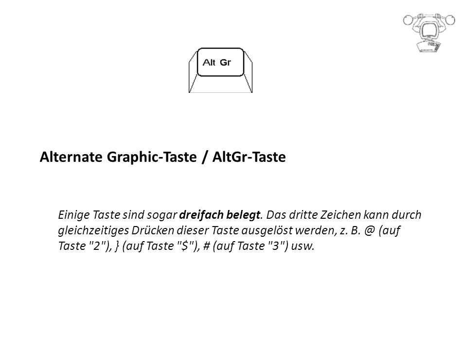 Alternate Graphic-Taste / AltGr-Taste