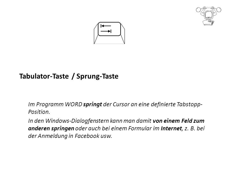 Tabulator-Taste / Sprung-Taste
