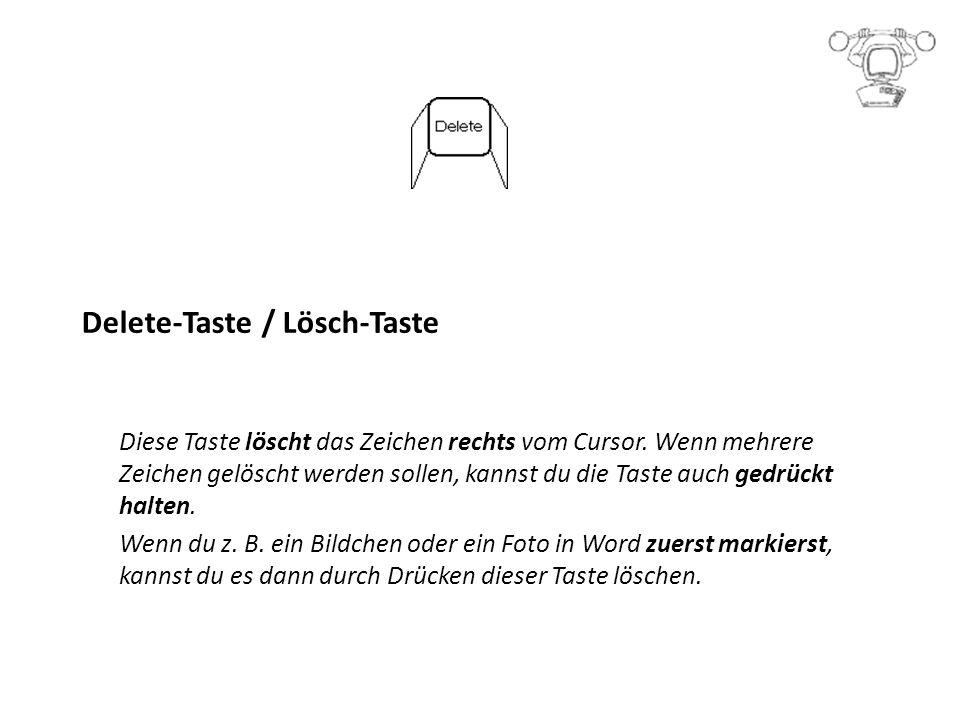 Delete-Taste / Lösch-Taste