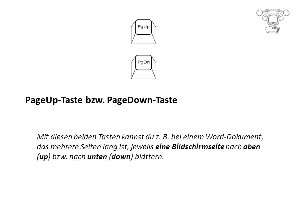 PageUp-Taste bzw. PageDown-Taste