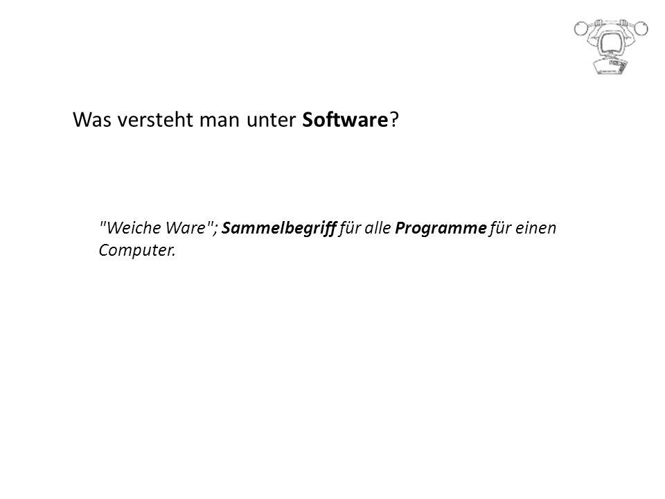 Was versteht man unter Software