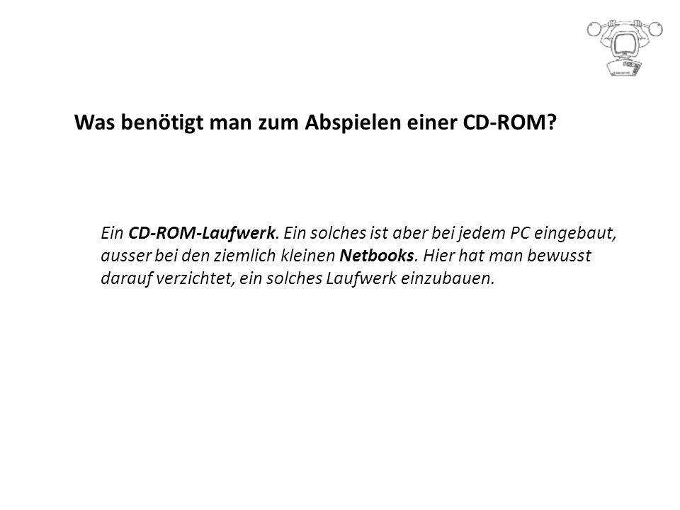 Was benötigt man zum Abspielen einer CD-ROM