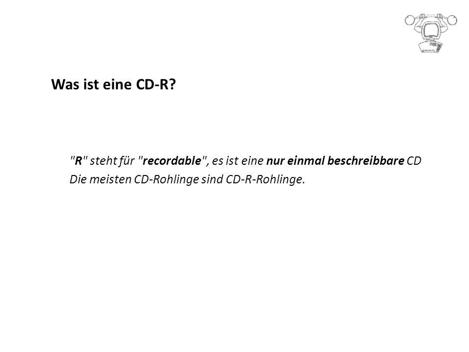 Was ist eine CD-R.