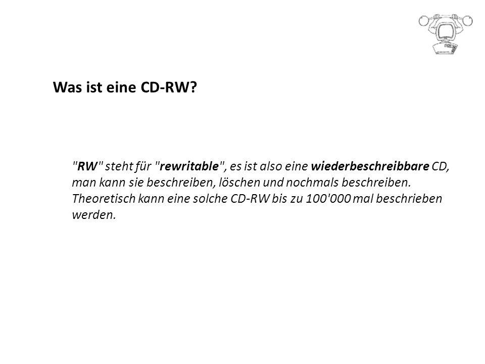 Was ist eine CD-RW