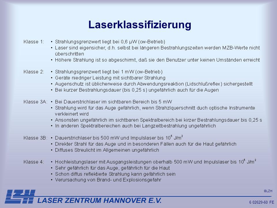 Laserklassifizierung