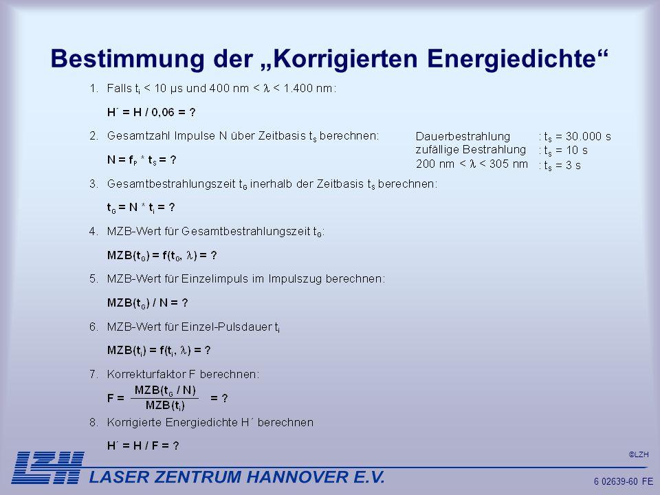 """Bestimmung der """"Korrigierten Energiedichte"""