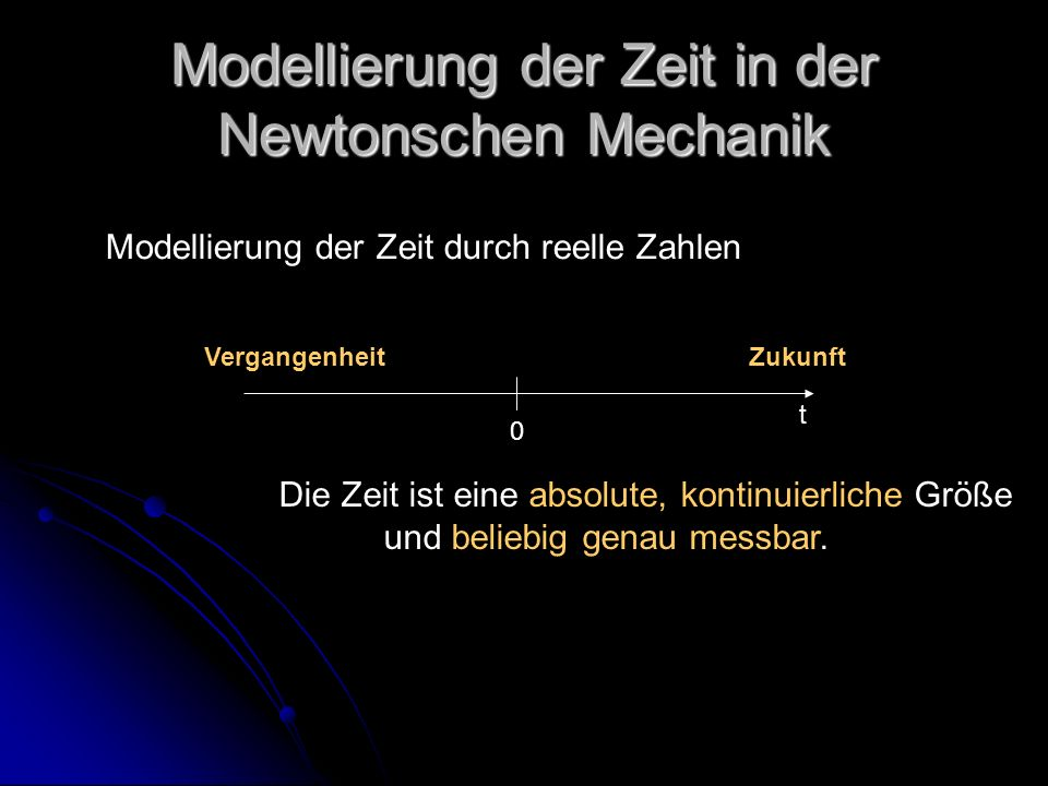 Modellierung der Zeit in der Newtonschen Mechanik