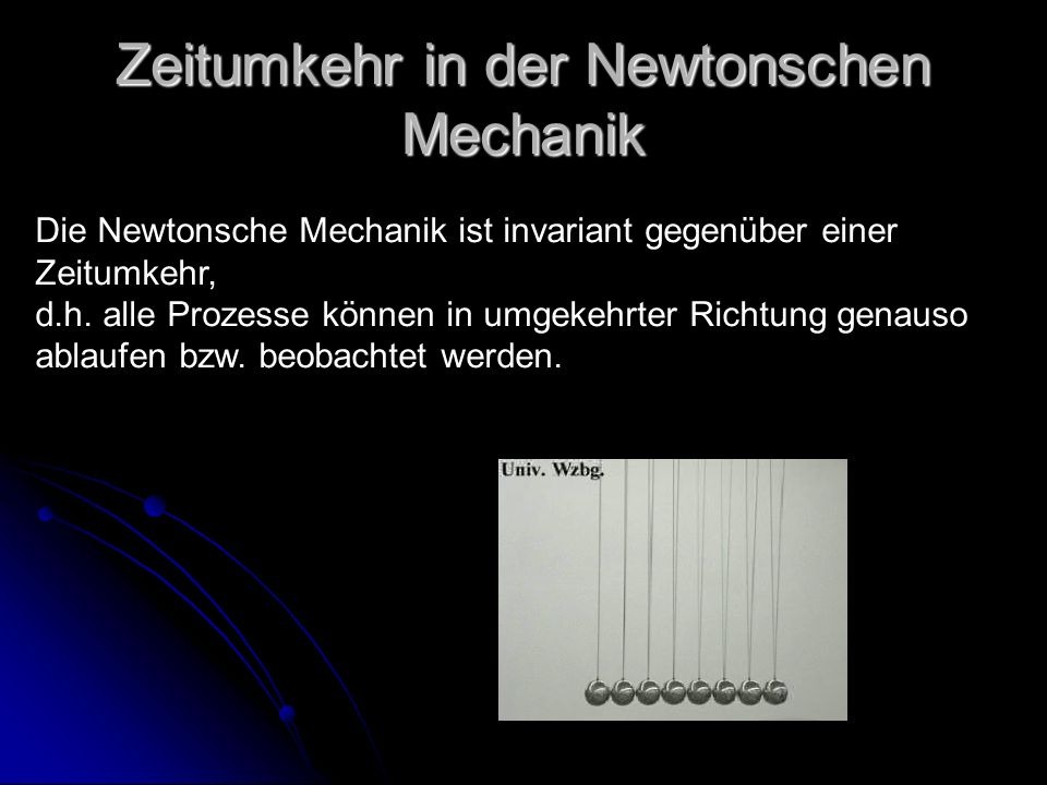 Zeitumkehr in der Newtonschen Mechanik