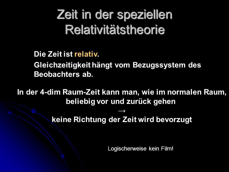 Zeit in der speziellen Relativitätstheorie