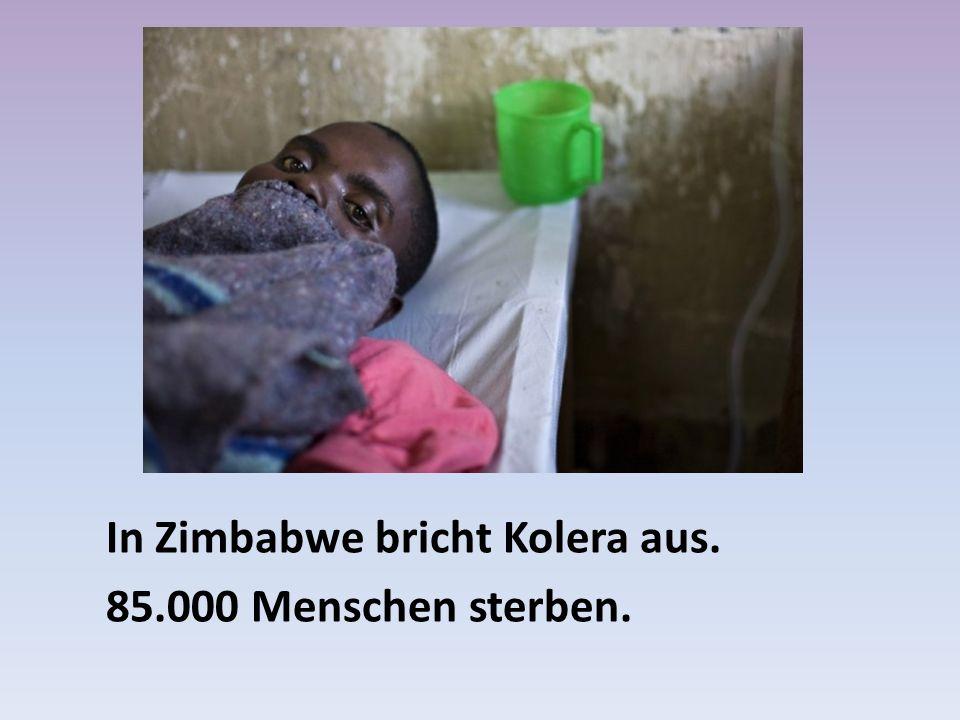 In Zimbabwe bricht Kolera aus.