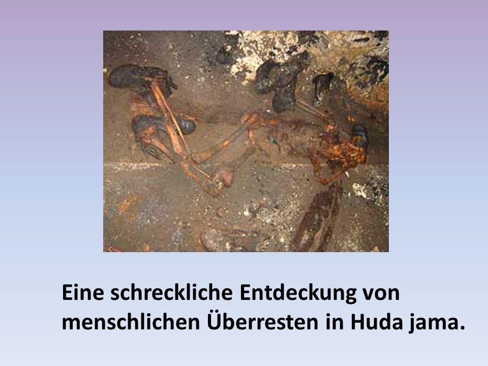 Eine schreckliche Entdeckung von menschlichen Überresten in Huda jama.