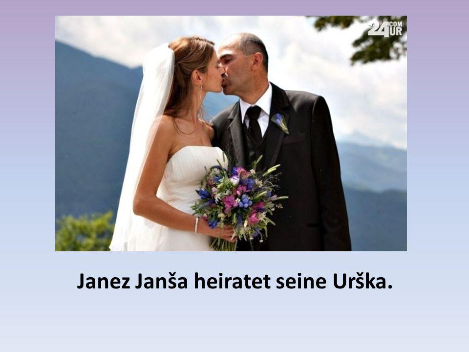 Janez Janša heiratet seine Urška.