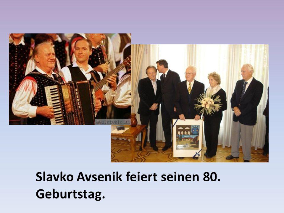 Slavko Avsenik feiert seinen 80. Geburtstag.