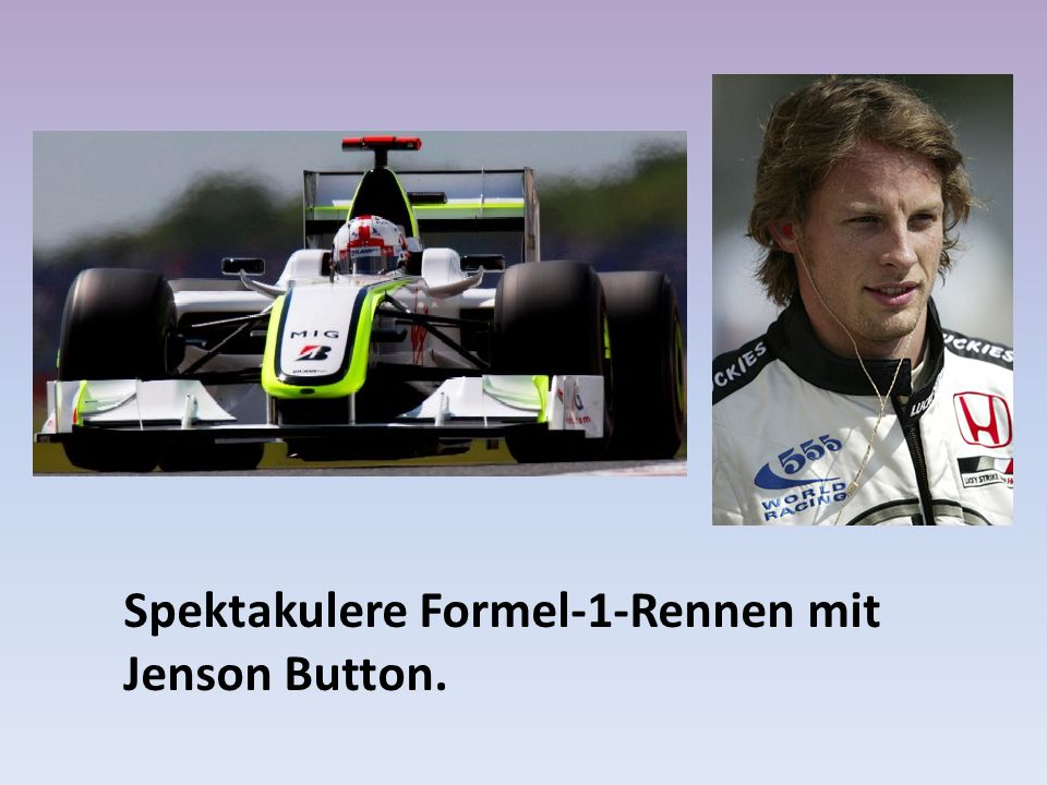 Spektakulere Formel-1-Rennen mit Jenson Button.