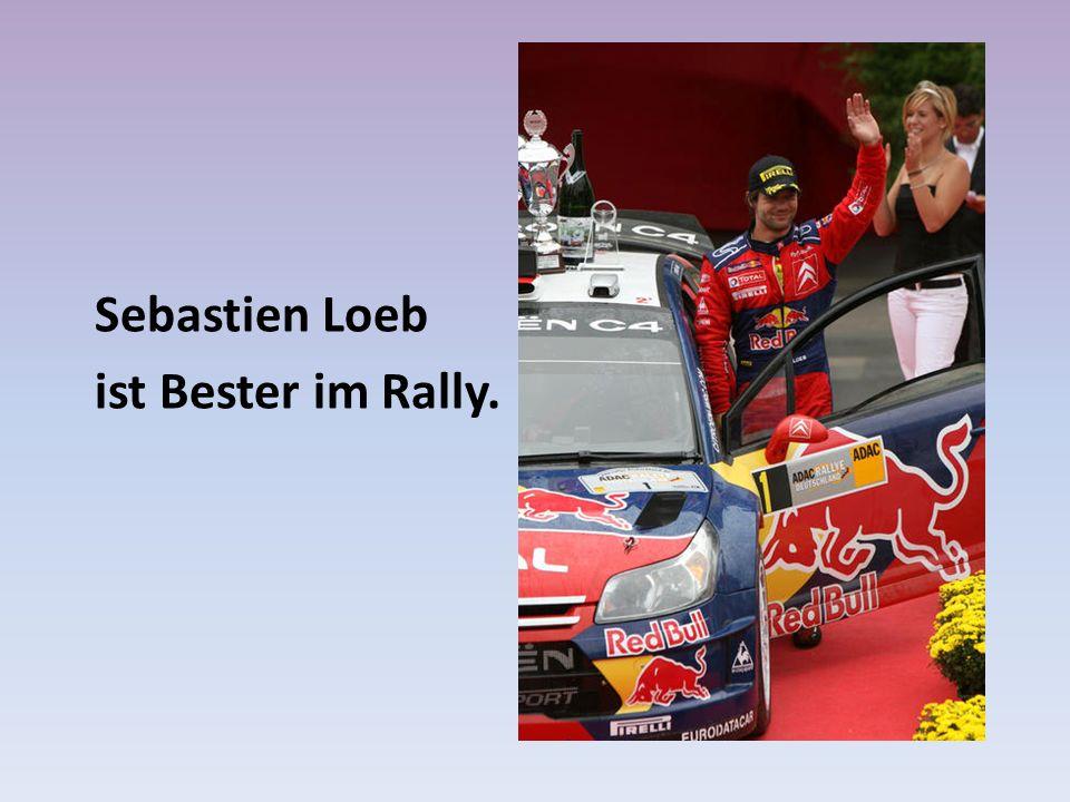 Sebastien Loeb ist Bester im Rally.