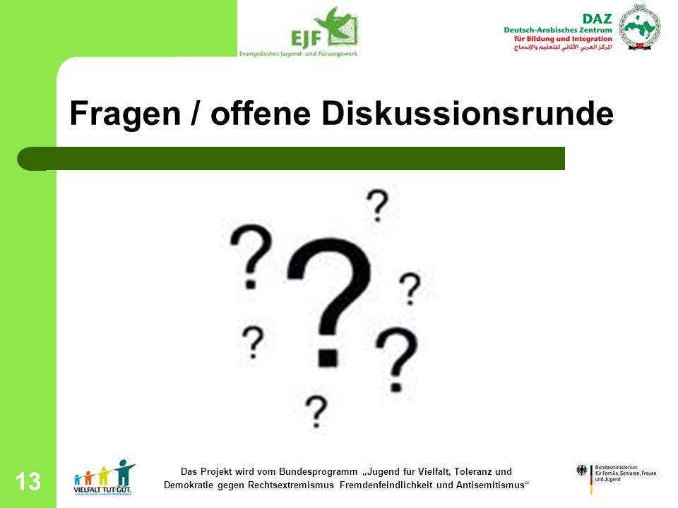 Fragen / offene Diskussionsrunde