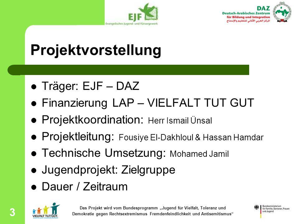 """Das Projekt wird vom Bundesprogramm """"Jugend für Vielfalt, Toleranz und"""