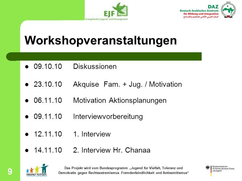 Workshopveranstaltungen