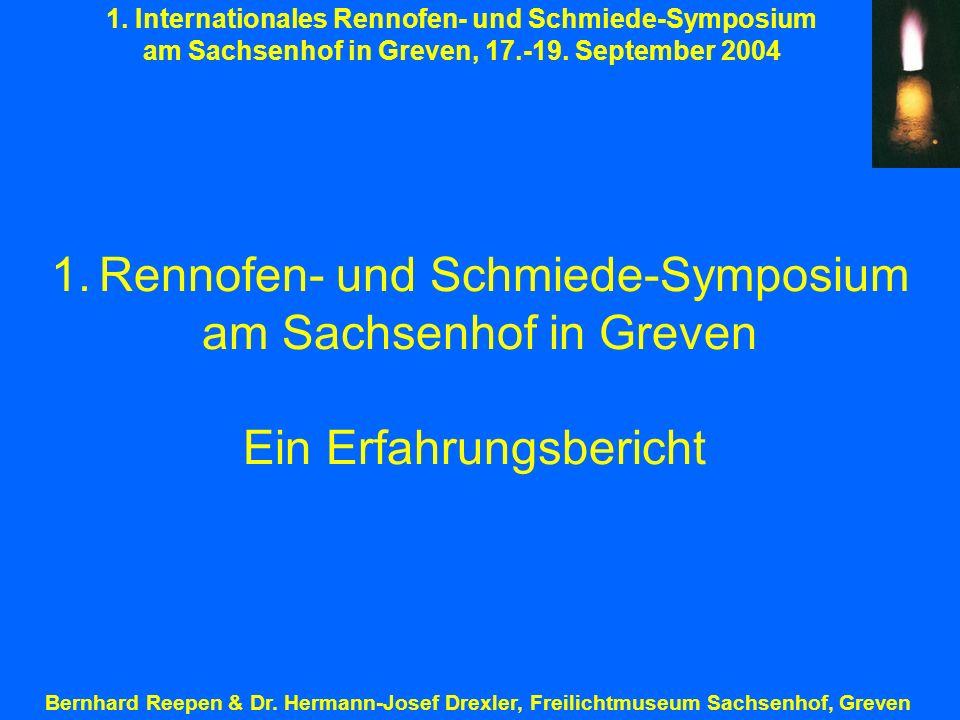 Rennofen- und Schmiede-Symposium am Sachsenhof in Greven