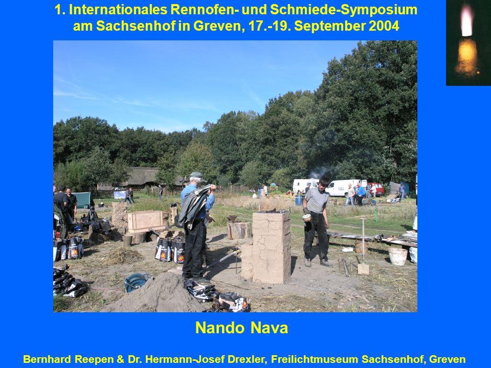 Nando Nava 1. Internationales Rennofen- und Schmiede-Symposium