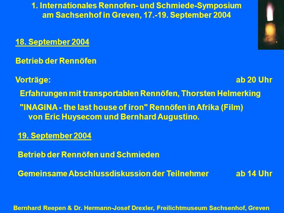 1. Internationales Rennofen- und Schmiede-Symposium