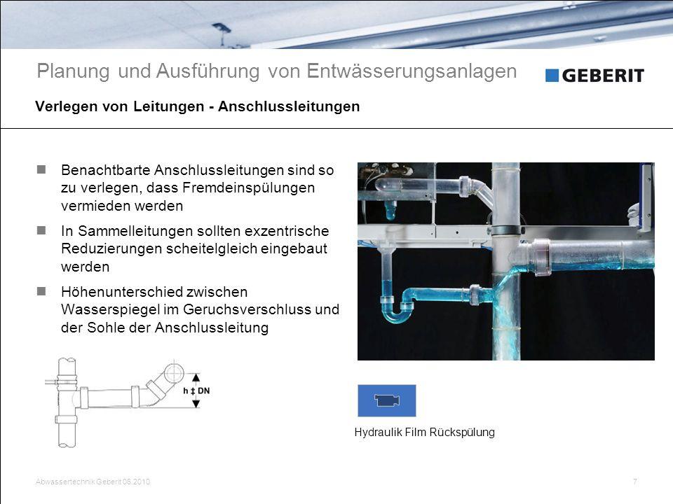 Verlegen von Leitungen - Anschlussleitungen