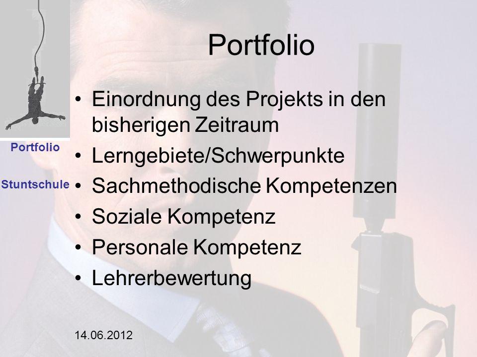 Portfolio Einordnung des Projekts in den bisherigen Zeitraum