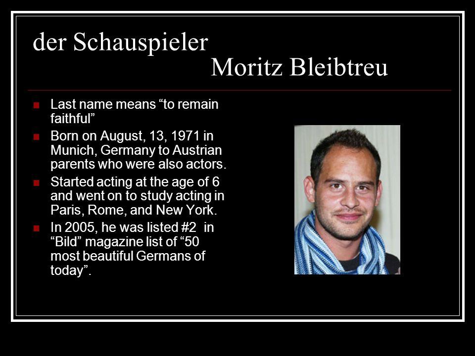 der Schauspieler Moritz Bleibtreu