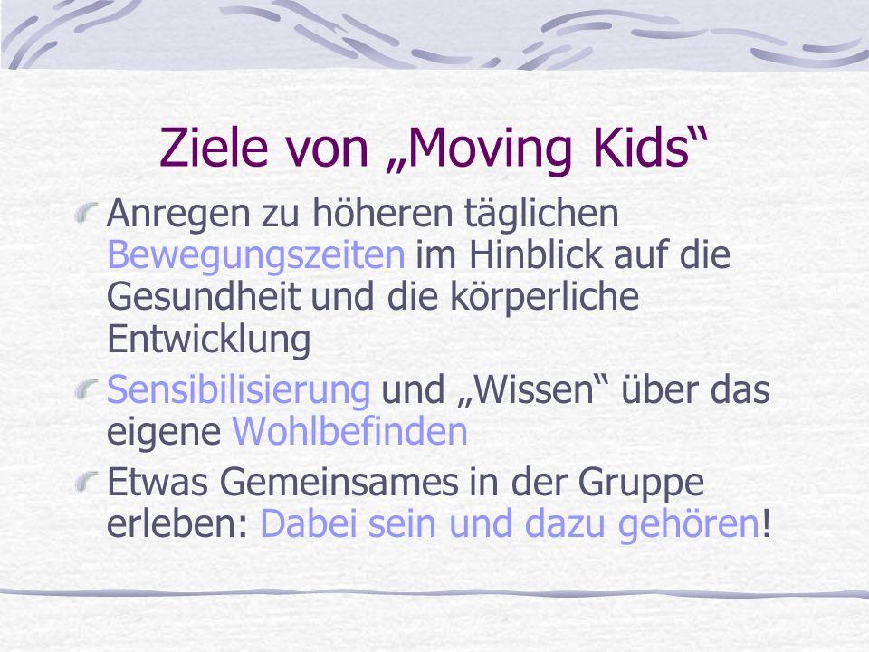 """Ziele von """"Moving Kids"""