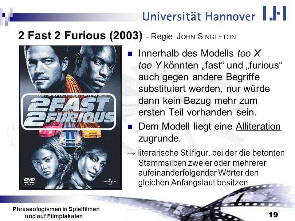 2 Fast 2 Furious (2003) - Regie: JOHN SINGLETON