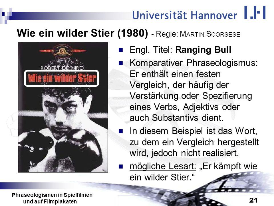 Wie ein wilder Stier (1980) - Regie: MARTIN SCORSESE