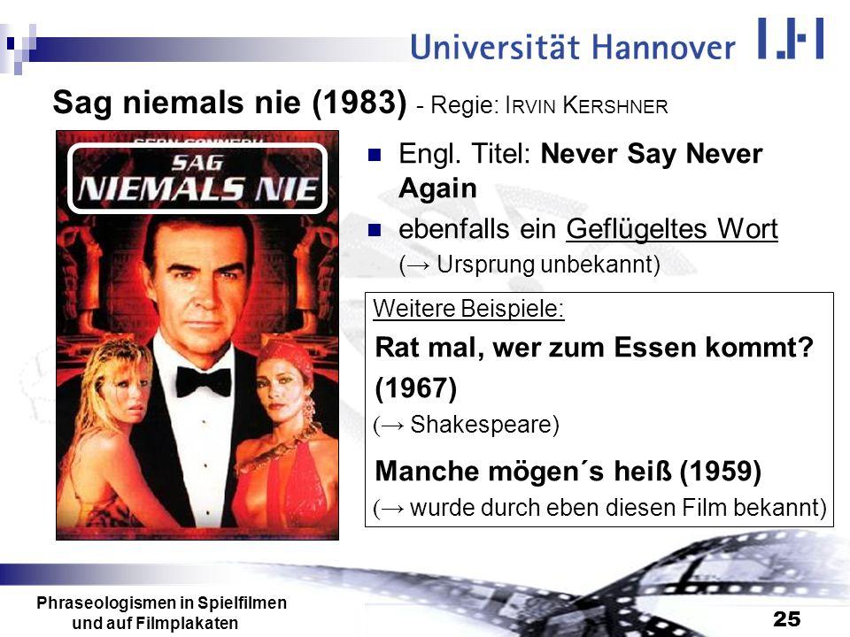 Sag niemals nie (1983) - Regie: IRVIN KERSHNER
