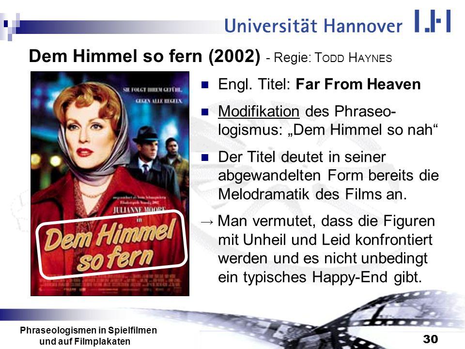Dem Himmel so fern (2002) - Regie: TODD HAYNES