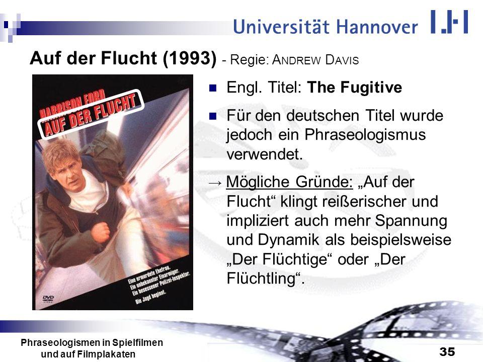 Auf der Flucht (1993) - Regie: ANDREW DAVIS
