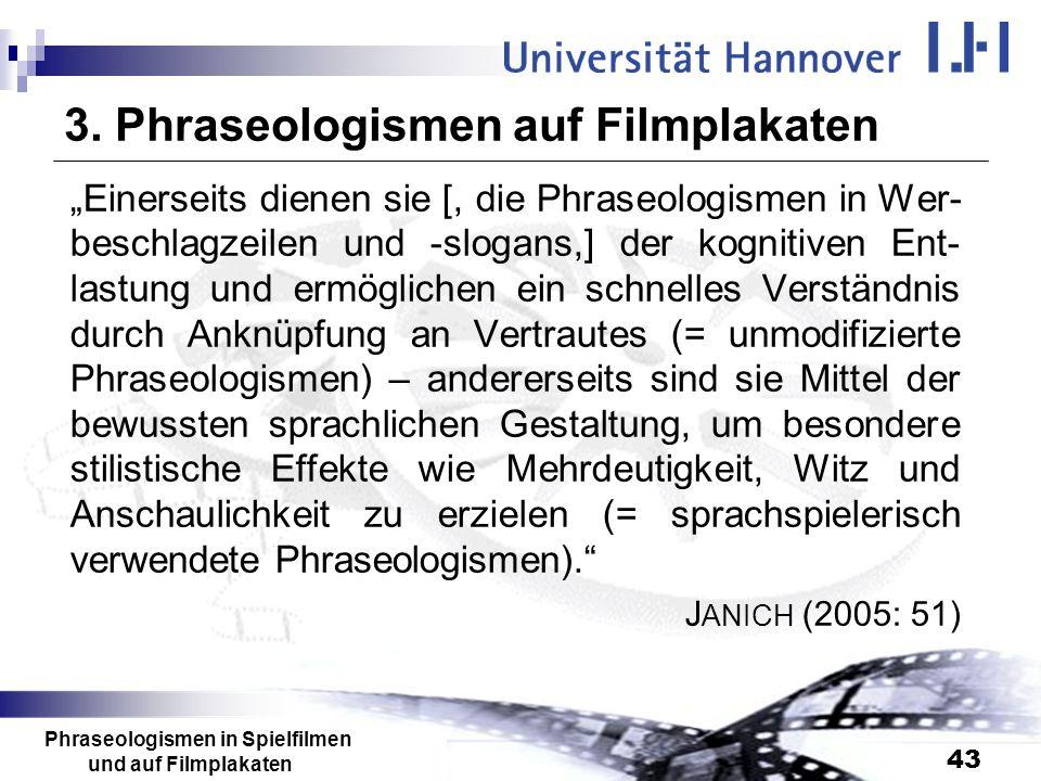 3. Phraseologismen auf Filmplakaten