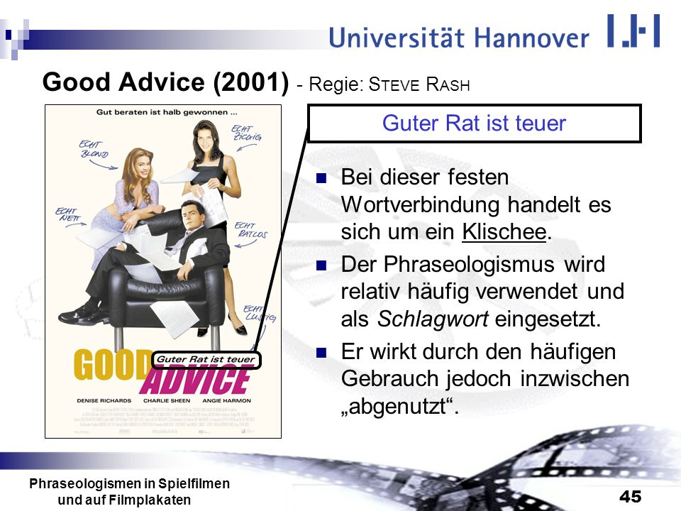 Good Advice (2001) - Regie: STEVE RASH