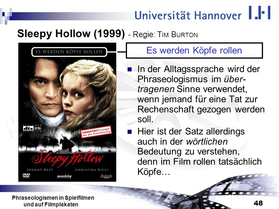 Sleepy Hollow (1999) - Regie: TIM BURTON
