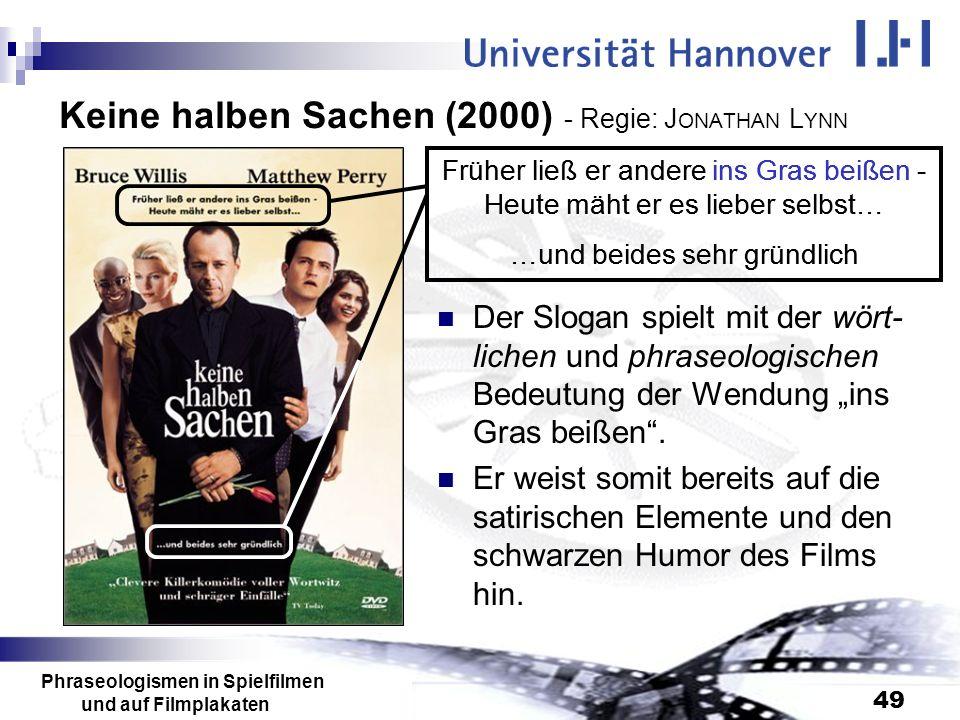 Keine halben Sachen (2000) - Regie: JONATHAN LYNN